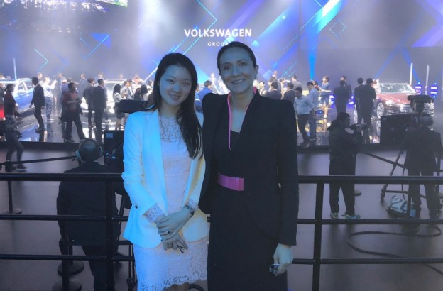 Vanessa Moriel, Managing Director Asia Pacific, LIASE Group and Rachel Yin, Head of Execution, LIASE Group attended the Volkswagen people's Mobility event on April 24th.