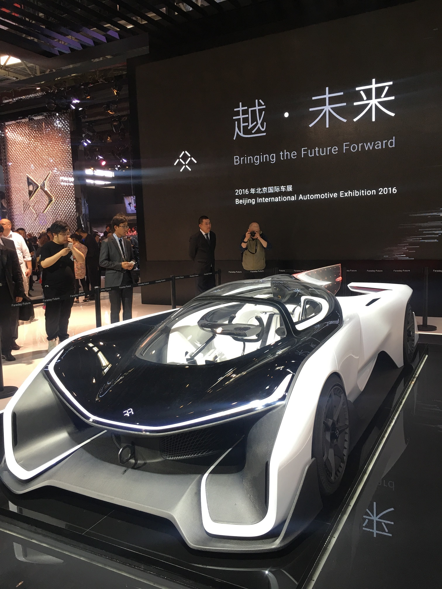 Faraday Future brought the FFZERO1 to Beijing, after first unveiling it in Las Vegas. Faraday Futures confirmed at the show that their first production model would be an SUV.