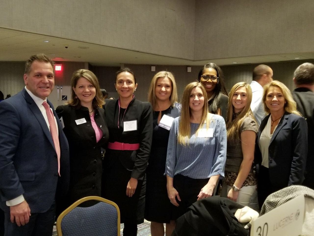 With executives from a Michigan-based Tier 1 supplier Lucerne International at the Detroit Women Association Breakfast, including Mary Buchzeiger, CEO.