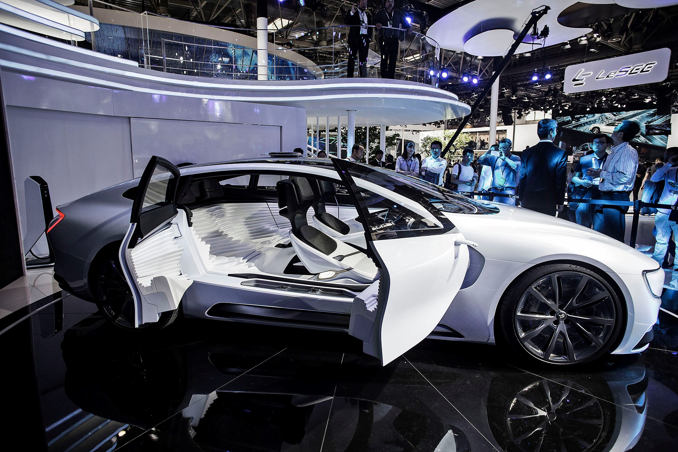 The LeEco LeSEE offered conference-goers a glimpse into the future of the connected, autonomous automobile.