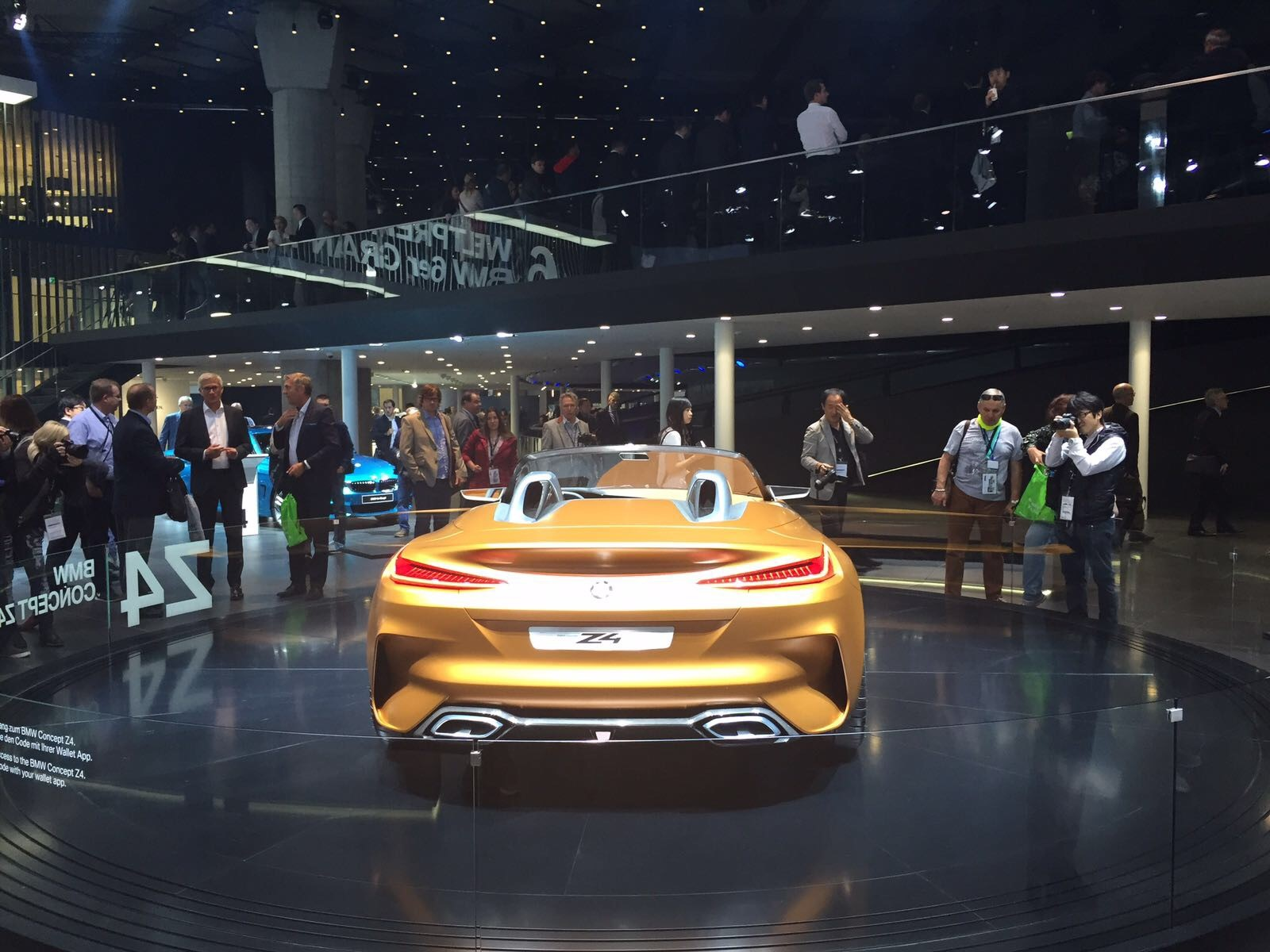The backside of the BMW Z4 Concept, built on a platform co-developed with Toyota.