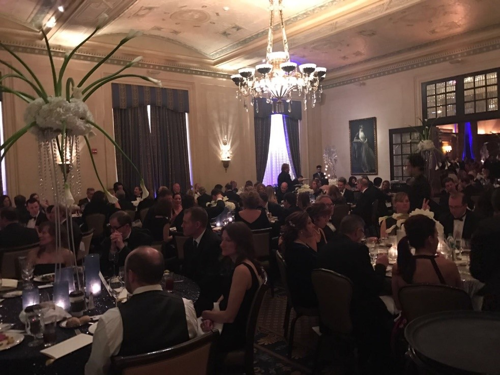 Charity dinner at the Detroit Athletic Club.