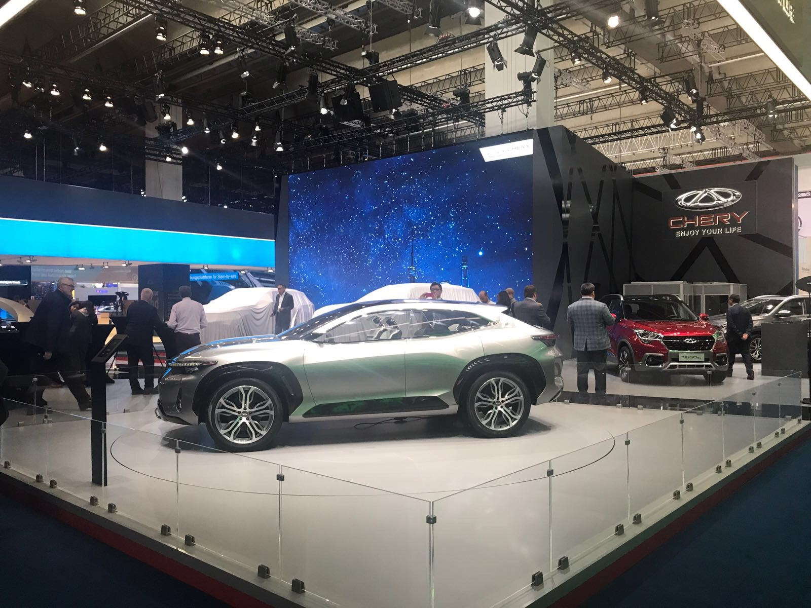 A picture of Chery's Exeed Tx unveiled at the 2017 IAA in Frankfurt.