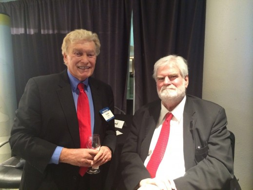 Vic H. Doolan, Non-Executive Member of the Board, LIASE Group, posing with Keith Crain, Founder, Crain Communications Inc.