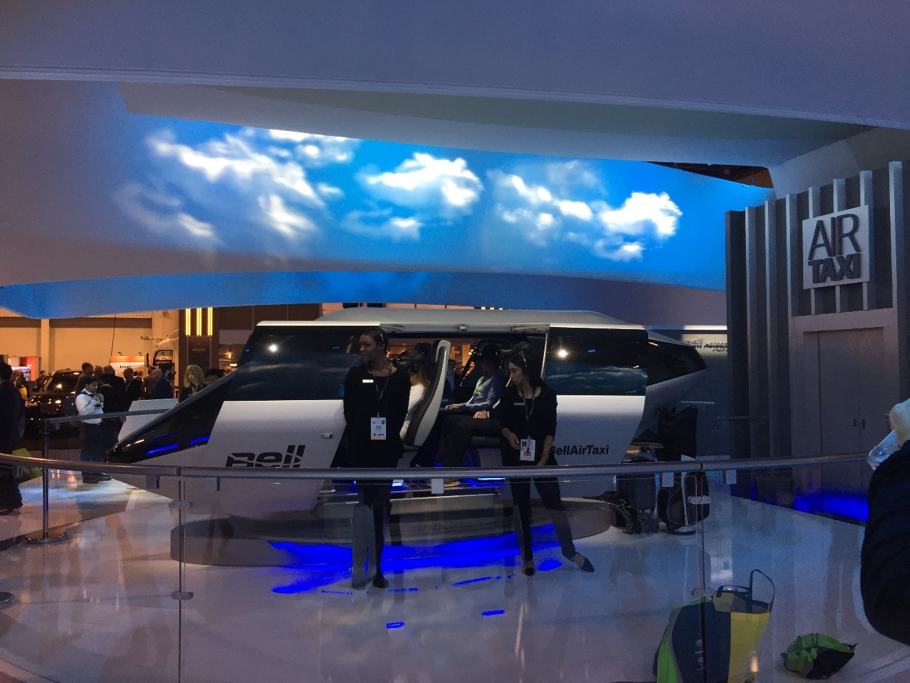 Bell helicopter made headlines with its electric flying taxi. The cabin of the helicopter was on display for all to see and the helicopter maker plans to unveil the full model at a later date. Bell wants to make helicopter travel a more affordable proposition that's available to everyone.