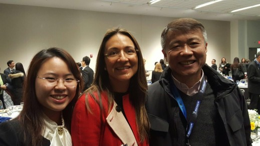 Vanessa Moriel, Managing Director Asia, Liase Group pose with Jack Cheng, CEO, Nextev and Cynthia Lin, Assistant of Foreign Affairs, CCPIT Automotive Committee.