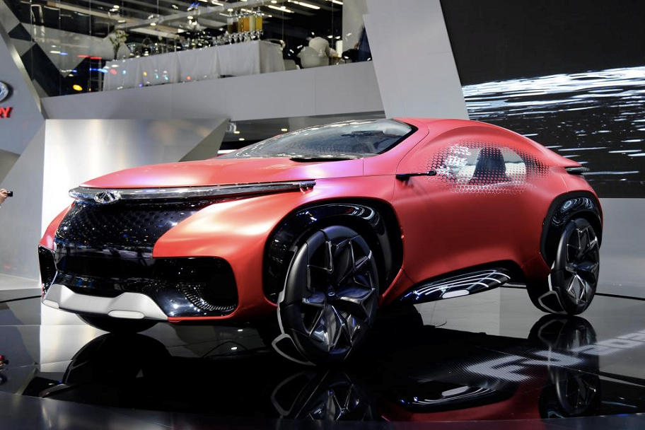 The made-in-China Chery FV2030 made its debut at Auto China 2016. The electric plug-in hybrid was dreamt up in a joint venture with Jaguar Land Rover.