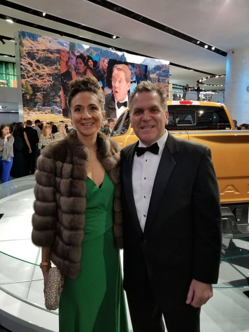 Vanessa Moriel, Managing Director Asia Pacific, LIASE Group and John Bukowicz, Managing Director Americas, LIASE Group at the new Ford Ranger's booth.