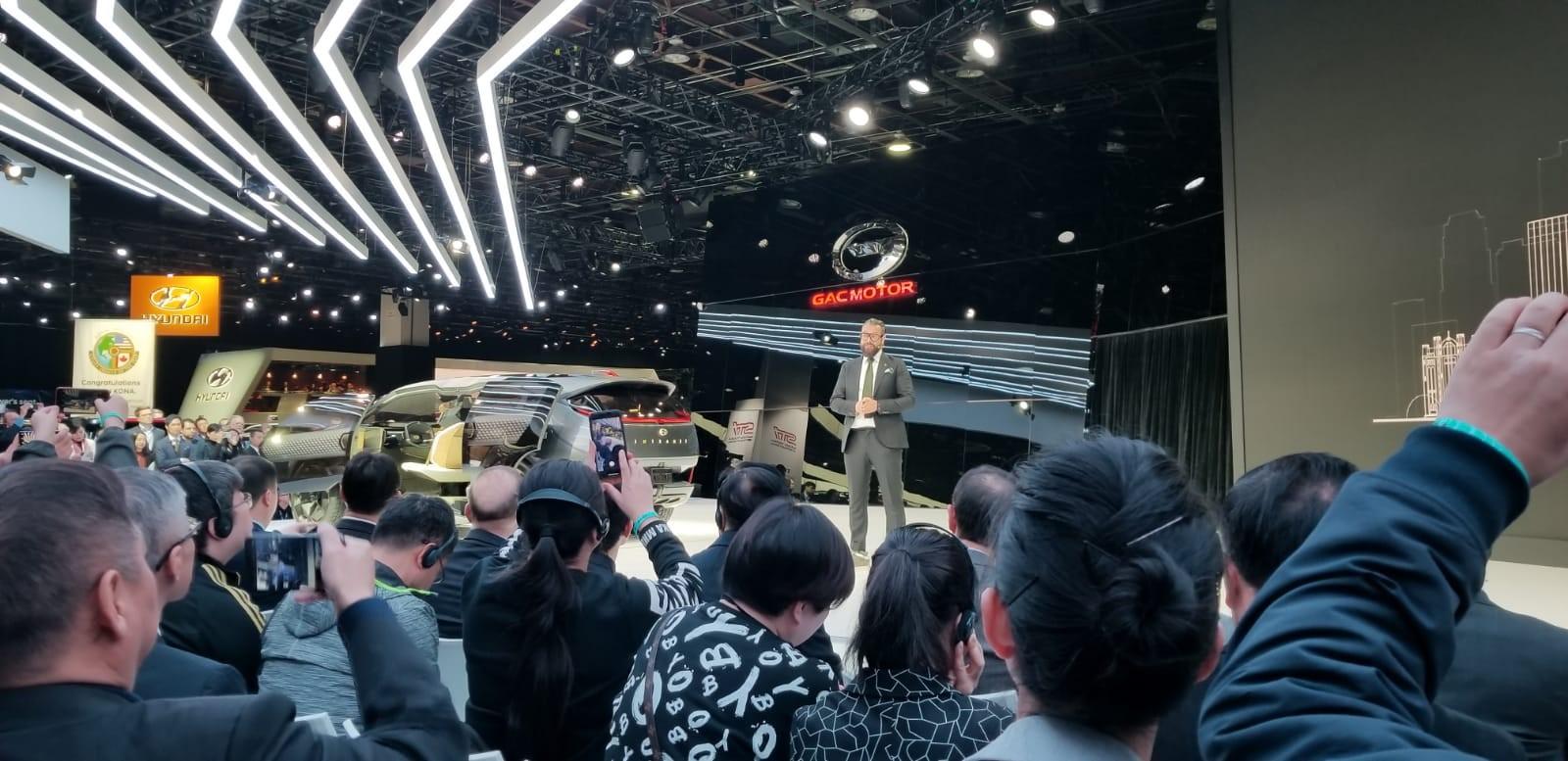 The GAC Motor presentation at NAIAS 2019 in Detroit.