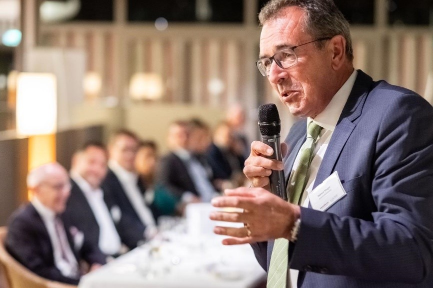 Speech from Helmut Kluger (Automobilwoche), the host of the VIP dinner