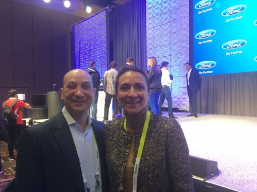 LIASE Group Managing Director Asia, Vanessa Moriel, posing together with Joe Vitale, Principle, Deloitte Consulting.