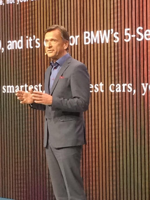 Volvo Cars Corporation CEO Hakan Samuelsson at the Detroit Auto Show. Volvo unveiled the new S90 that will compete with Mercedes's E-Class and BMW's 5 series.