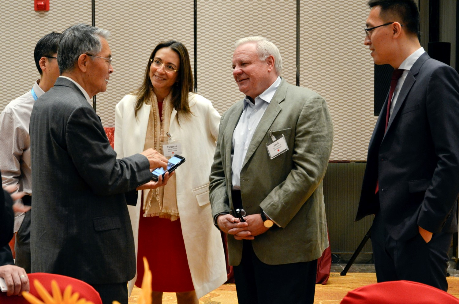 Vanessa Moriel, LIASE Group Managing Director Asia (middle left); Jack Perkowski, Managing Partner, JFP Holdings (middle right); Dr. Wang (right) and Lei Xing, Editor-in-Chief, CBU (left) at the CBU/CAR 2016 Conference.