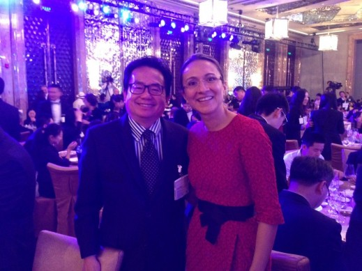 HCP Managing Director Asia Vanessa Moriel (right) posing with Joseph Liu (left), Ford's new vice president of marketing and sales in China.