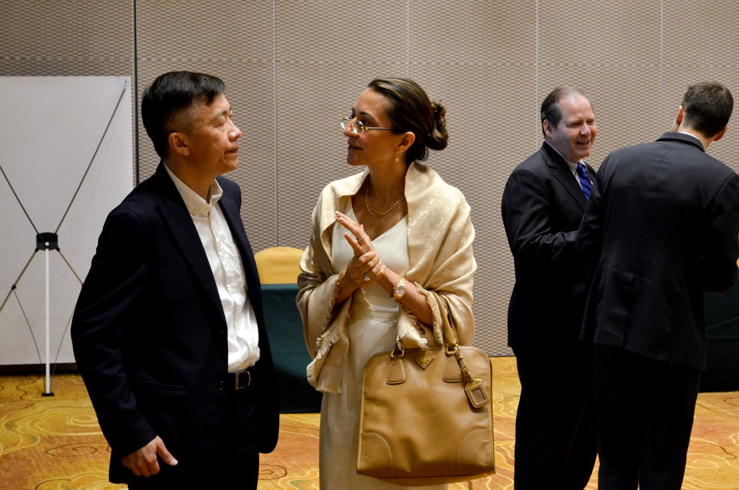 Vanessa Moriel, LIASE Group Managing Director Asia speaking with Jack Chen, Founder of NextEv.
