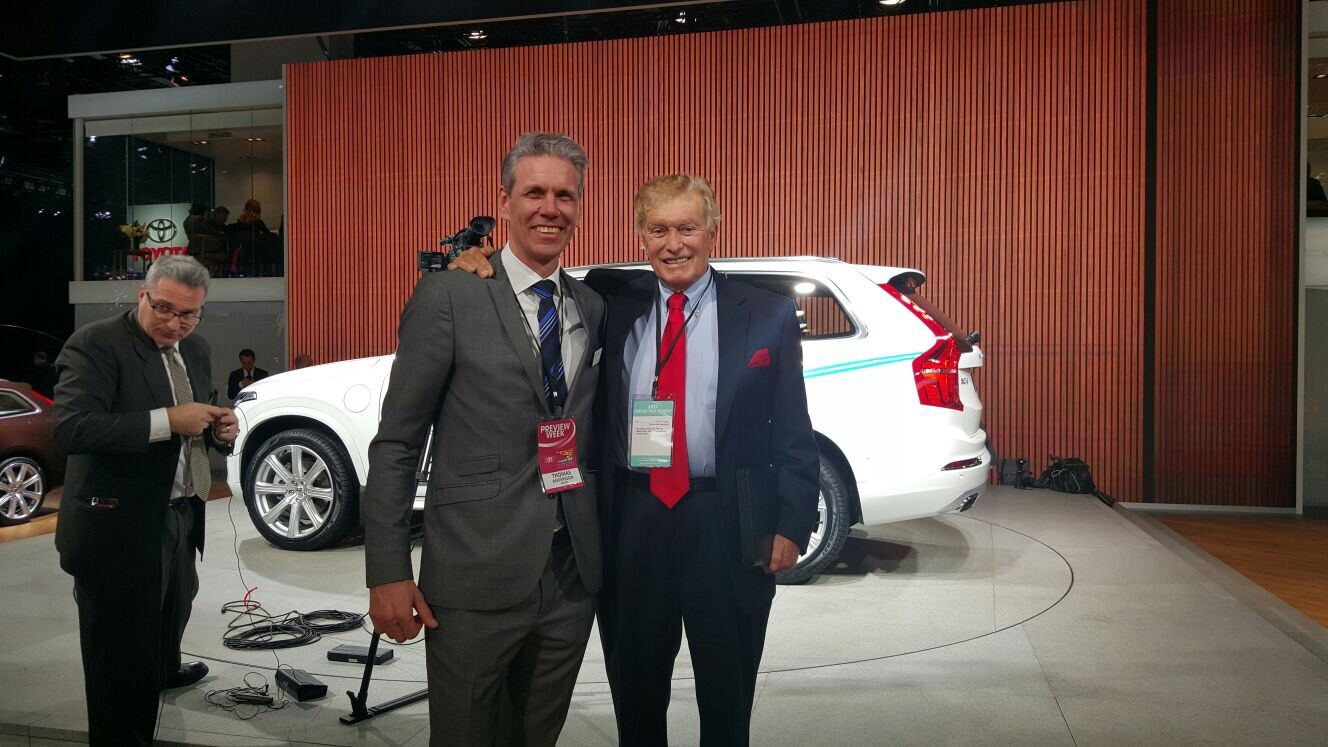Vic Doolan and a Volvo Global Executive.