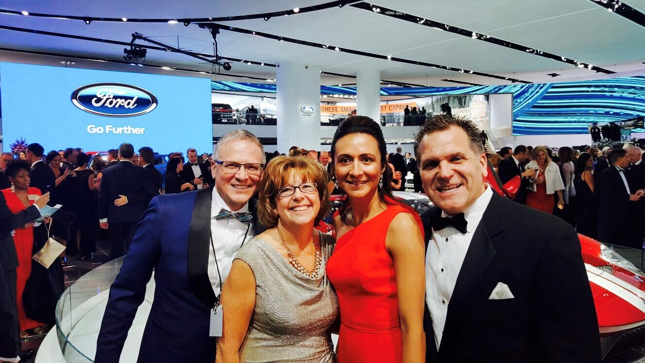 John Bukowicz and Vanessa Moriel and Lear CFO, Jeffrey Vanneste, and his wife.