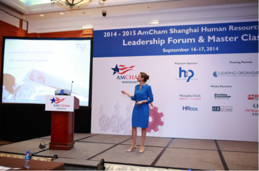 Vanessa Moriel, MD & Founder of HCP, Presenting the Leadership Equation - Amcham Leadership Forum 2014