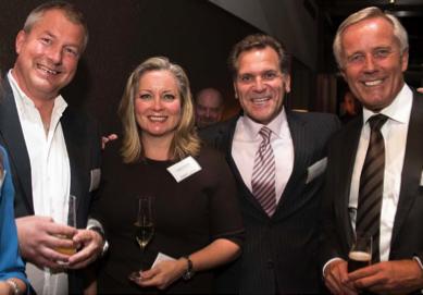 From left to right: Axel Buchholz, Advisory Board Member, REGE  ; Linda Hasenfratz, CEO, LINAMAR ;  John Bukowicz, President Americas, LIASE ; and Wolfgang Sczygiol, CEO , Brose