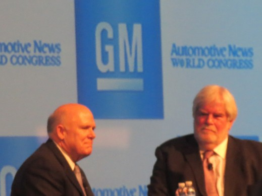 Former General Motors Chairman and CEO, Daniel Akerson, being interviewed by Keith Craine on the day following the handover to incoming CEO Mary Barra.