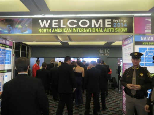 Entrance to the black tie charity ball at the 2014 Detroit Auto Show