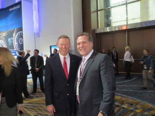 Ford CEO, Alan Mulally, with LIASE Group MD Americas and Board Member, John Bukowicz.