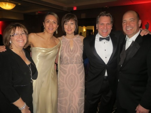 Lear global CEO Matt Simoncini, on the right, hosted a black tie event for his global and regional management team following the charity ball at the Detroit Auto Show
