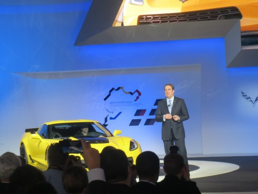 Mark Reuss, COO of General Motors - Presenting the new Corvette during his press conference at the Detroit Auto Show.