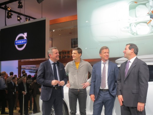 Volvo press conference – CEO Hakan Samuelsson with members of his global sales and engineering team, and Volvo Cars North America CEO, Tony Nicolosi.